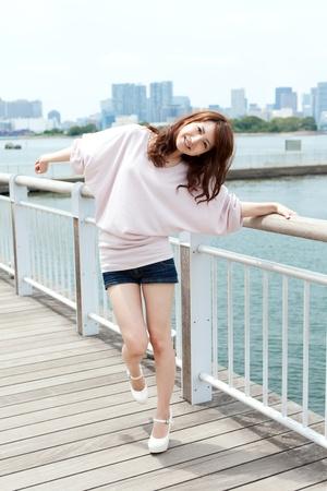 Beautiful young women of summer  Portrait of asian Stock Photo - 13683625