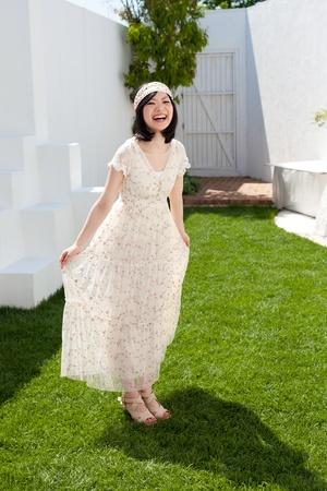 Beautiful young woman outdoors Stock Photo - 13736321
