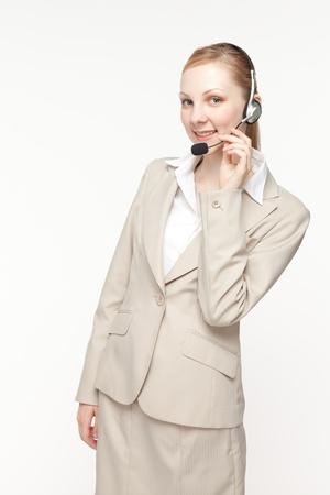 gray suit: Beautiful business operator