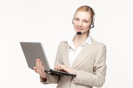 Beautiful business operator Stock Photo - 13826106