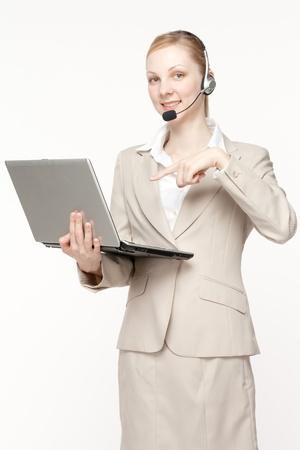 Beautiful business operator Stock Photo - 13826117