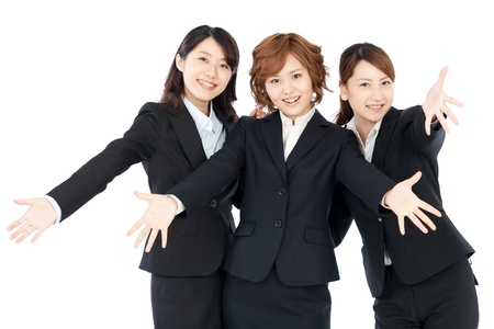 Beautiful young business woman  Portrait of asian   photo