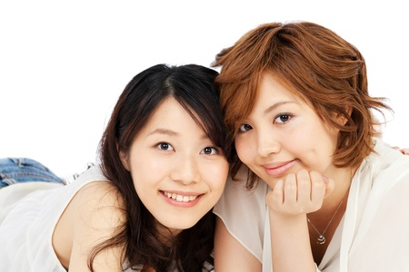 Beautiful young women  Portrait of asian  Stock Photo - 14053748