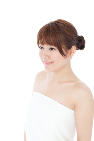 Beautiful young woman  Portrait of asian  photo