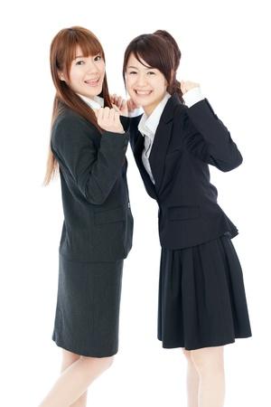 Beautiful young business women photo