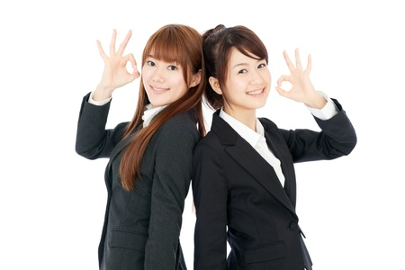 Beautiful young business women photo