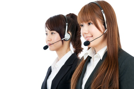 asian office lady: Beautiful business operator