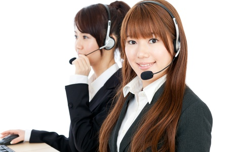 Beautiful business operator Stock Photo - 14242865