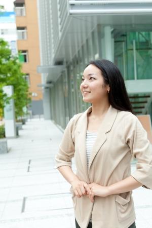 Beautiful business woman outdoor Stock Photo - 14345012