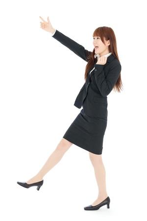 the whole body: Beautiful business woman  Portrait of asian  Stock Photo