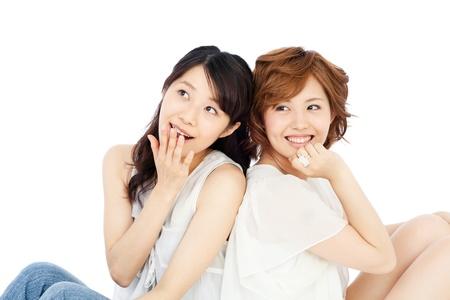 Beautiful young women  Portrait of asian  photo