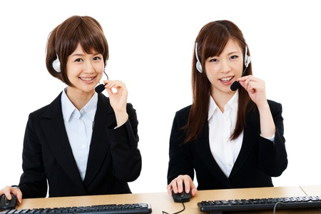 operators: Beautiful business operator  Portrait of asian