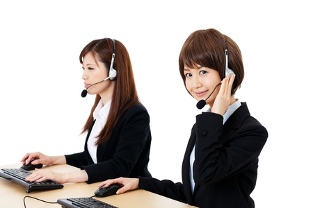 call girl: Beautiful business operator  Portrait of asian