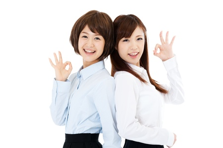 Beautiful young business women  Portrait of asian  photo