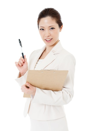 Beautiful young business woman Stock Photo - 14665868