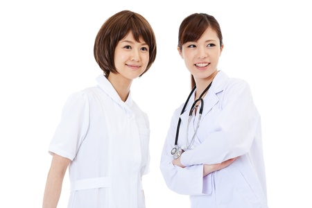 chinese medical: Beautiful young hospital staff
