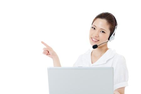Beautiful business operator Stock Photo - 14966195