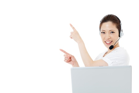 Beautiful business operator Stock Photo - 14966175