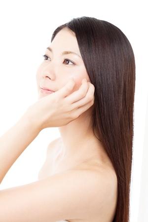 Beautiful hair woman on white background Stock Photo - 15249197