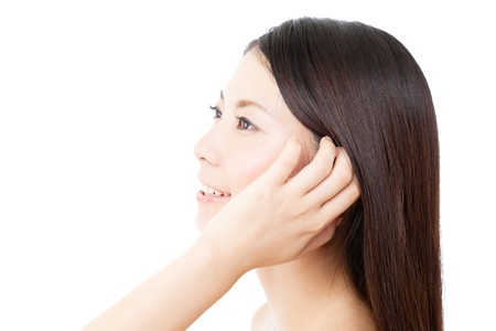 Beautiful hair woman on white background Stock Photo - 15249191