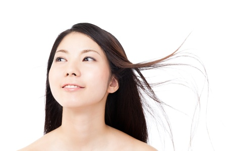 Beautiful hair woman on white background Stock Photo - 15249163