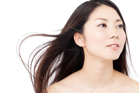 Beautiful hair woman on white background Stock Photo - 15249193