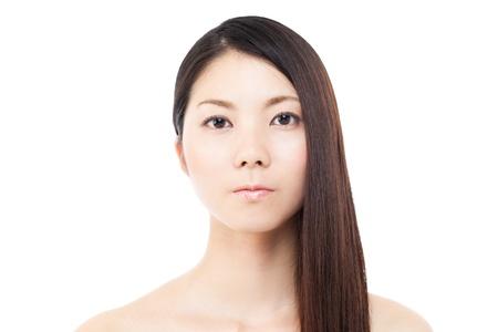 Beautiful hair woman on white background Stock Photo - 15249184