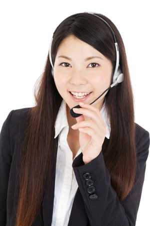 call center female: Beautiful business woman