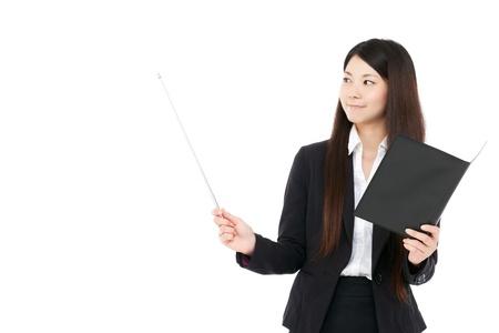 asian teacher: Beautiful business woman