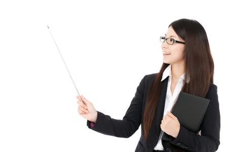 points: Beautiful business woman