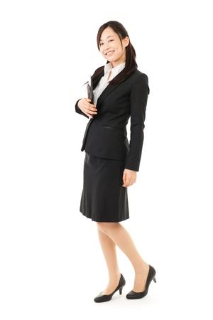 the whole body: Beautiful business woman