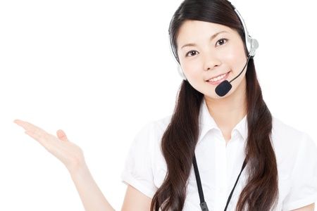 Beautiful business operator Stock Photo - 15451019