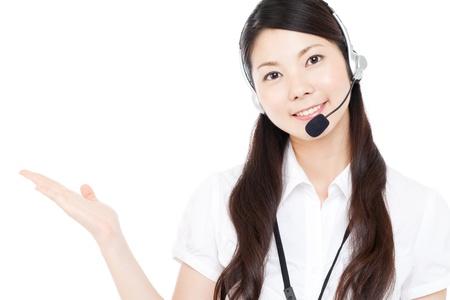 Beautiful business operator Stock Photo - 15451019