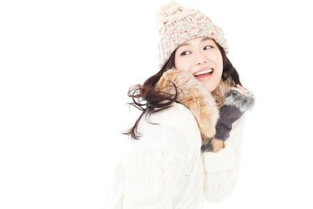 Beautiful winter woman Stock Photo - 15584545