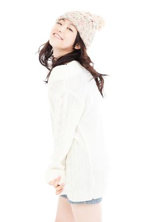 korean fashion: Mujer hermosa del invierno