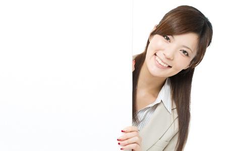 Beautiful businesswoman on white background Stock Photo - 15892263