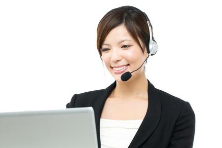 Beautiful businesswoman on white background Stock Photo - 15892248
