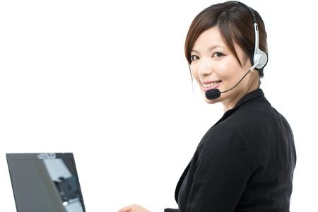 Beautiful businesswoman on white background 版權商用圖片