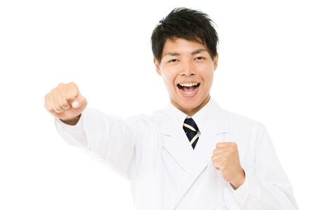 Asian young medical doctor isolated on white background Stock Photo - 15976713