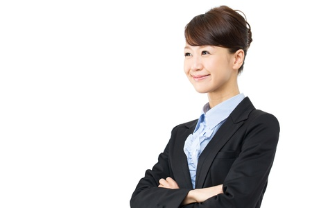 Young asian smiling business woman photo