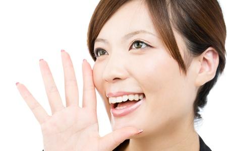 Beautiful asian businesswoman on white background Stock Photo - 16117997