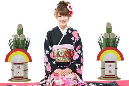 Beautiful japanese kimono woman Stock Photo - 16640331