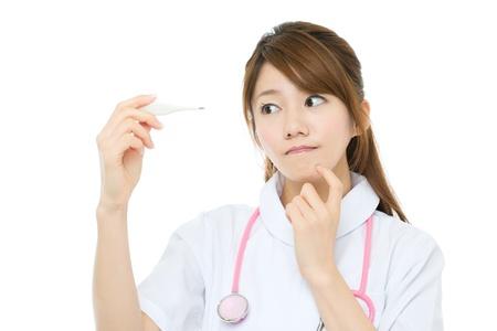 asian nurse: Beautiful asian nurse on white background Stock Photo