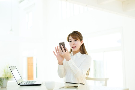 Beautiful asian businesswoman Stock Photo - 17160648