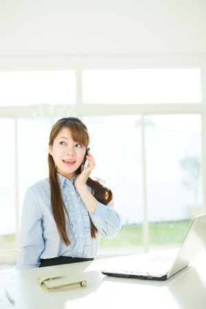 Beautiful asian businesswoman Stock Photo - 17166530