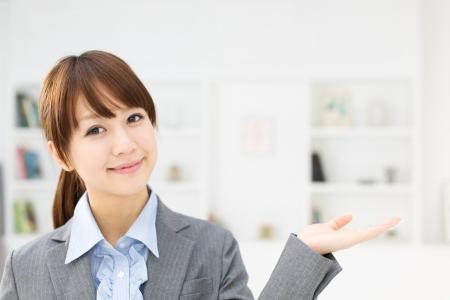 Beautiful asian businesswoman working in office