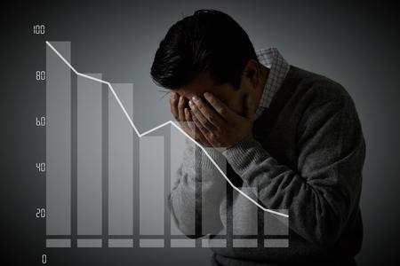 burnout: Businessman with burnout syndrome