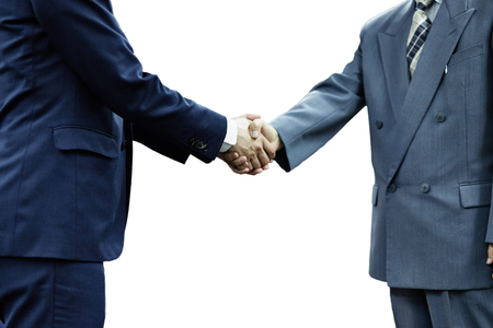 professional people: Two businesspeople shaking hands
