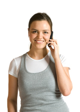 Girl talking on a mobile phone Stock Photo - 9352162