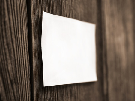 White sheet on a wooden fence Stock Photo